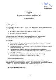 Merkblatt zur Transportgenehmigung Kreis PB