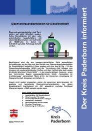Eigenverbrauchstankstellen für Dieselkraftstoff