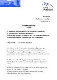 Pressemitteilung - Paderborner Land