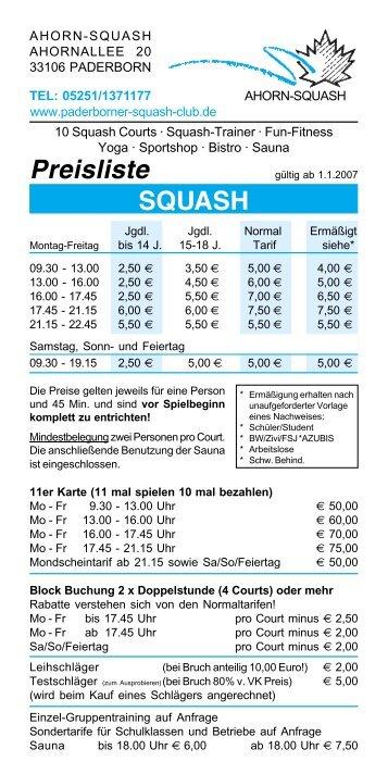 Antrag zur Mitgliedschaft - Squash Club Fricktal