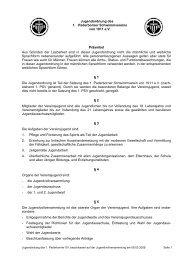 Jugendordnung 1. Paderborner Schwimmverein