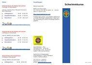 Schwimmkurse - 1. Paderborner Schwimmverein