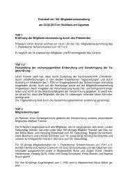 Protokoll der 102 Mitgliederversammlung - 1. Paderborner ...
