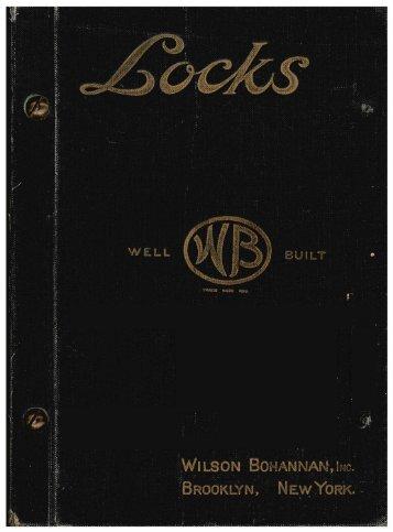 1922 - Wilson Bohannan Padlocks