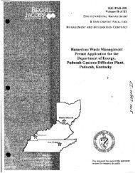 Hazardous Waste Management Permit Application for the ...