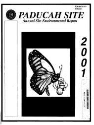 PADUCAH SITE - paducah environmental information center