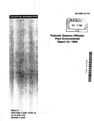 paducah gaseous diffusion plant essay The closing of a plant in paducah, ky, could pose a problem for the  paducah  uses gaseous diffusion technology, which was developed.