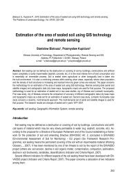 Estimation of the area of sealed soil using GIS technology and ...