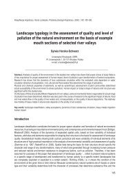 Landscape typology in the assessment of quality and level of ...