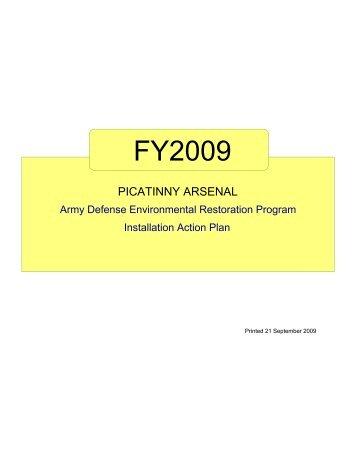 Installation Action Plan - Picatinny Arsenal Environmental ...