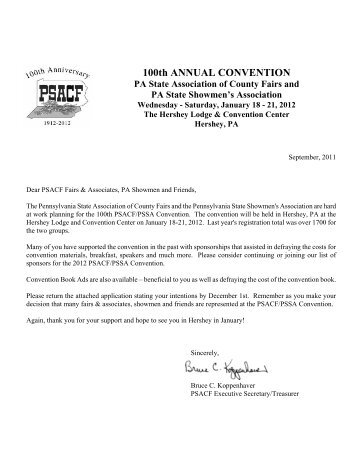100th ANNUAL CONVENTION - Pennsylvania State Association of ...