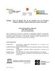 Programme - Peuples autochtones et gouvernance