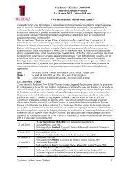Informations - Peuples autochtones et gouvernance