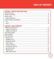 TABLE OF CONTENTS - Page Plus Cellular