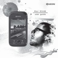 Generic Rio™ E3100 User Guide - English - Kyocera Wireless