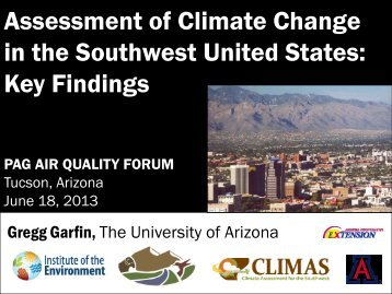 Assessment of Climate Change in the Southwest United States: Key ...
