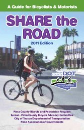 A Guide for Bicyclists & Motorists - Pima Association of Governments