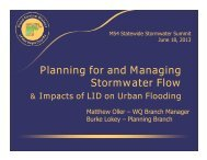 Presentation #9 - Planning for and Managing Stormwater Flow