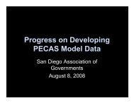 Progress on Developing PECAS Model Data - Pima Association of ...