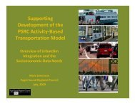 Supporting Development of the PSRC Activity-Based Transportation ...