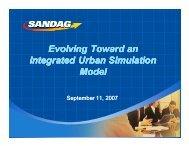 Evolving Toward an Integrated Urban Simulation Model Evolving ...