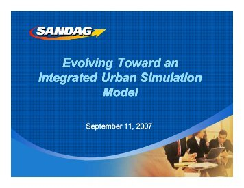Evolving Toward an Integrated Urban Simulation Model Evolving ...