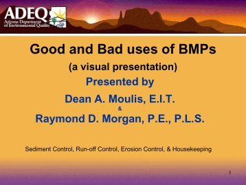 Good and Bad uses of BMPs