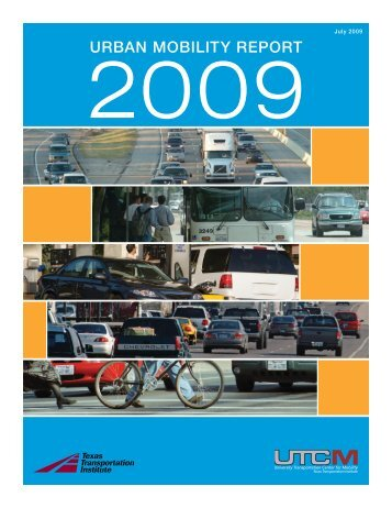 2009 Urban Mobility Report - Pima Association of Governments