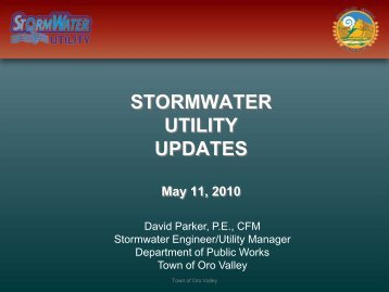 Oro Valley Stormwater Ordinance