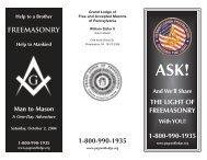ask brochure - Grand Lodge of Pennsylvania