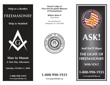 ask brochure - Grand Lodge of Pennsylvania