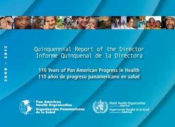 Quinquennial Report of the Director Informe ... - PAHO/WHO
