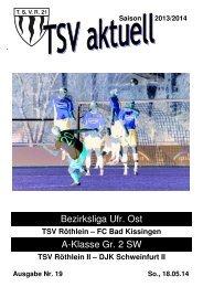 TSV aktuell Nr. 19 2013/14