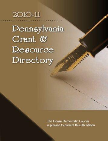Pennsylvania grant & resource directory - pa house