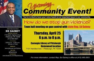 Town hall meeting on gun violence