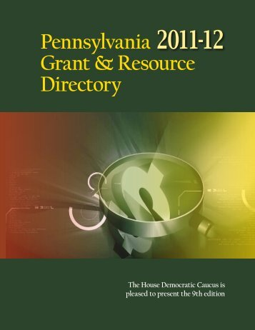 Pennsylvania Grant & Resource Directory - Pennsylvania House ...
