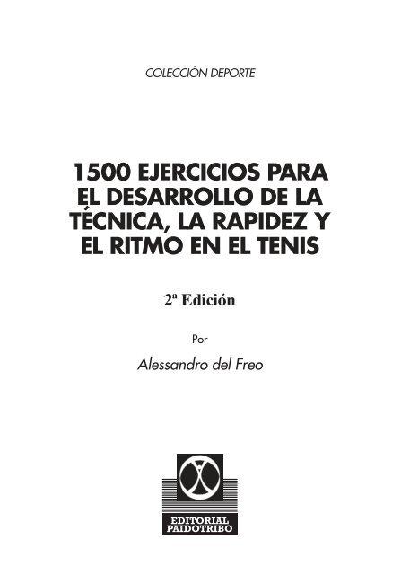 1500 Ejercicios Para El Desarrollo De La Tecnica La
