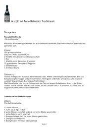Rezepte mit Aceto Balsamico Tradizionale Vorspeisen - Manufactum