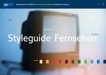 WDR Corporate Design Manual - Design Tagebuch