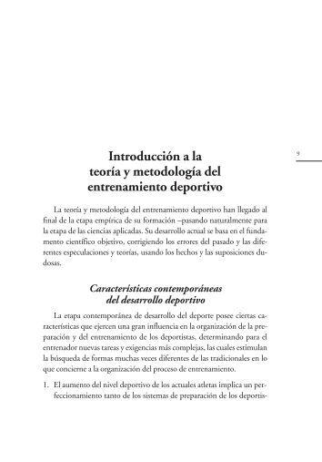 Introducción a la teoría y metodología del entrenamiento deportivo