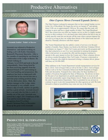 Read our February 2012 Newsletter's Online Edition - Productive ...