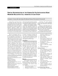Partial Regeneration of the Human Hip Via ... - Pain Physician