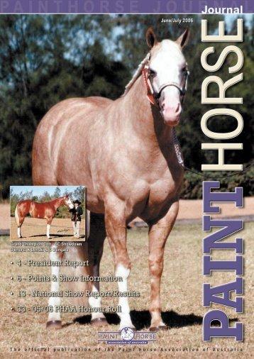 2006 national show - Paint Horse Association of Australia