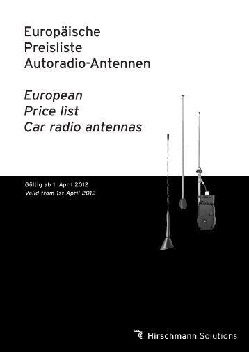 Autoradio-Antennen / Car radio antennas - Hirschmann Solutions