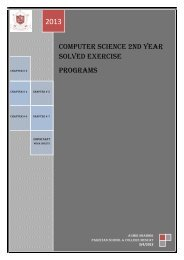 Computer Science 2nd Year Solved Exercise Programs - Pakistan ...