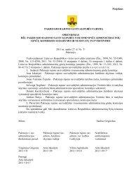 Dėl Pakruojo rajono savivaldybės visuomeninės administracinių ...