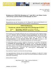 Einladung zum STRAT.EVA Workshop am 7. April 2011 in der ...