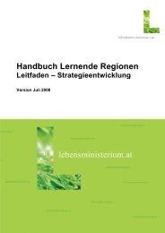 Handbuch Lernende Regionen Teil 2 - Österreichisches Institut für ...