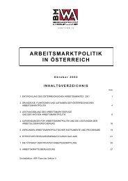 Arbeitsmarktpolitik in Österreich 2001 - Bundesministerium für Arbeit ...