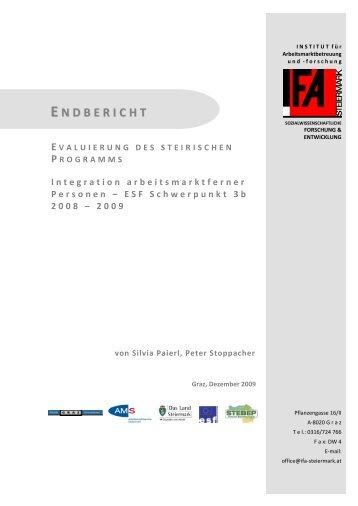 Evaluierung – Integration arbeitsmarktferner Personen - Territoriale ...